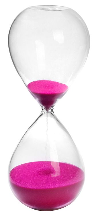 30 Min. Hourglass Sand Timer Rose 8""""