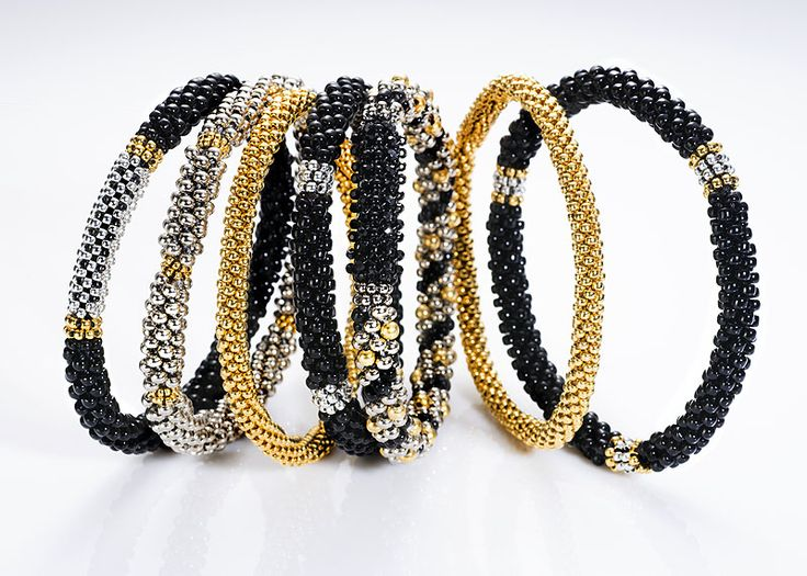Adrienne Gaskell Beluga Bangles - Bead&Button Show
