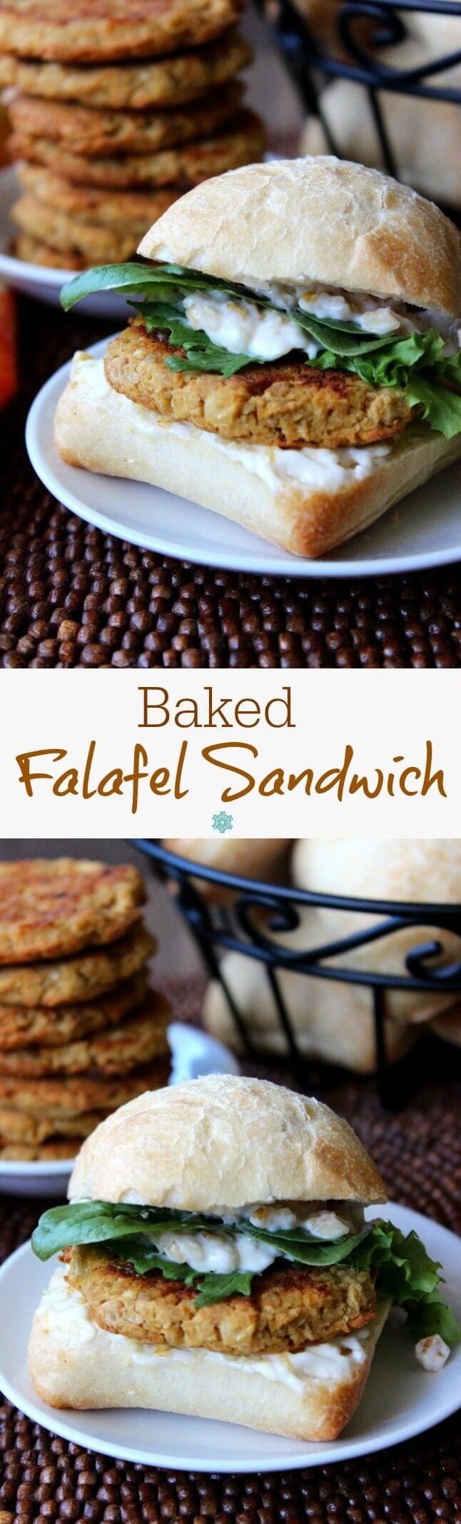 Baked Falafel makes a fantastic sandwich and is more healthy than the deep fried version. The flavors are all there and they are great as an entree too.