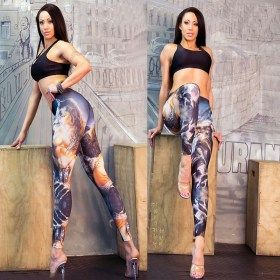 Digital Print Superman Character Legging
