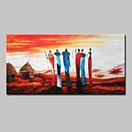 Hånd-malede Abstrakt / Landskab / Mennesker / Abstrakt Landskab / Abstrakt Portræt Oliemalerier,Moderne Et Panel CanvasHang-Painted – DKK kr. 250