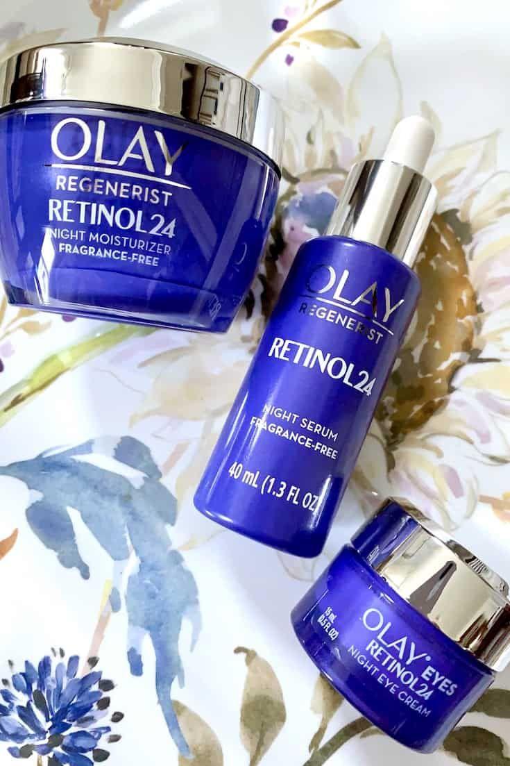 Olay Retinol 24 Night Serum Eye Cream Moisturizer Skincare