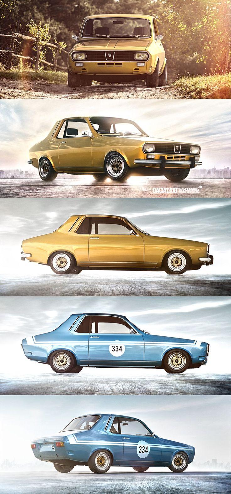 2015 update of the 2 door version of the Renault 12 / Dacia 1300 #dacia…