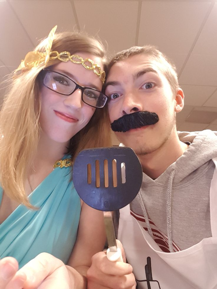 Me and my boyfriend at our college halloween party :3