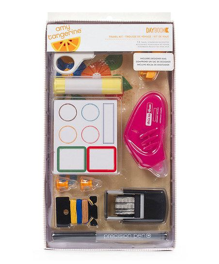 Perfect gift for the art journaler/scrapbooker in your life. Amy Tangerine Scrapbook Travel Set on sale on zulily