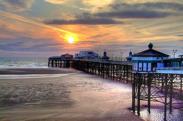 Blackpool North Pier Sunset