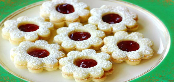 Песочное печенье с малиной
