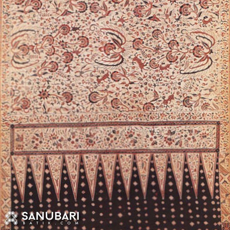 Karakteristik menonjol dari Batik Indramayu adalah ranggam dinyatakan flora dan fauna #sanubaribatik #SANUBARIBATIK.com #Batik #Indonesia