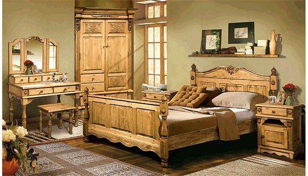 Спальная из дерева ручной работы,
