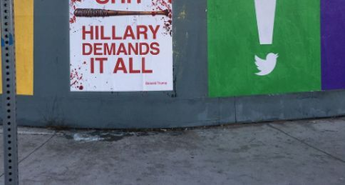 Anti-Hillary 'Walking Dead' posters turn heads in the heart of Democrat country