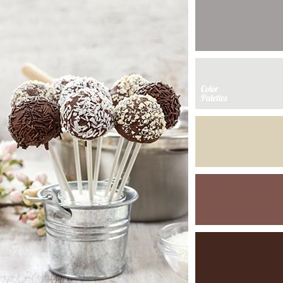 chocolate color, color combination for winter, light gray, pale gray, palette for winter 2016, shades of brown, shades of chocolate, shades of gray, winter color palette.