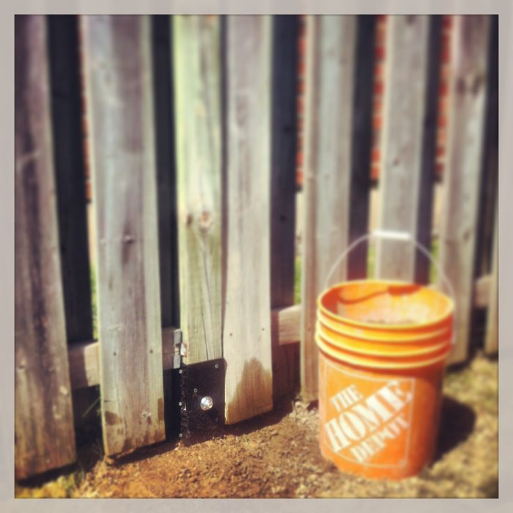 how to fix a broken fence post