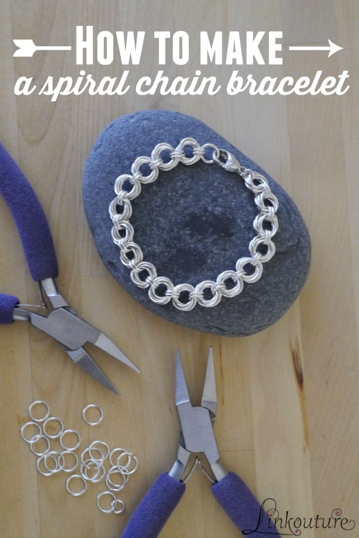 Learn how to make your own elegant and beautiful spiral chain bracelet with this simple DIY tutorial. It makes a beautiful gift idea for that special woman in your life!