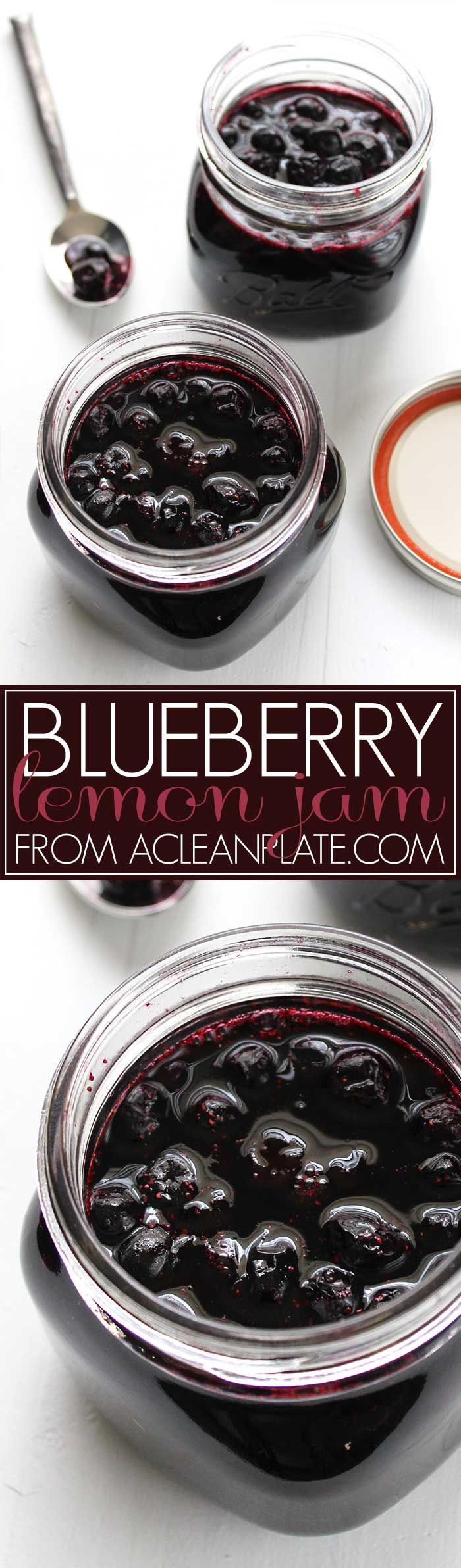 Homemade Lemon-Blueberry Jam recipe from acleanplate.com