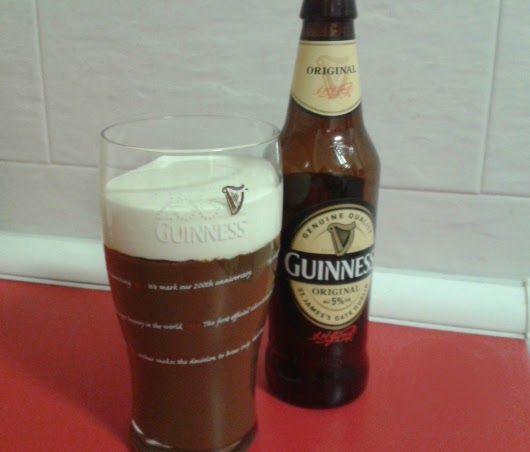 Trampantojo Cerveza Guinness, postre para diabeticos