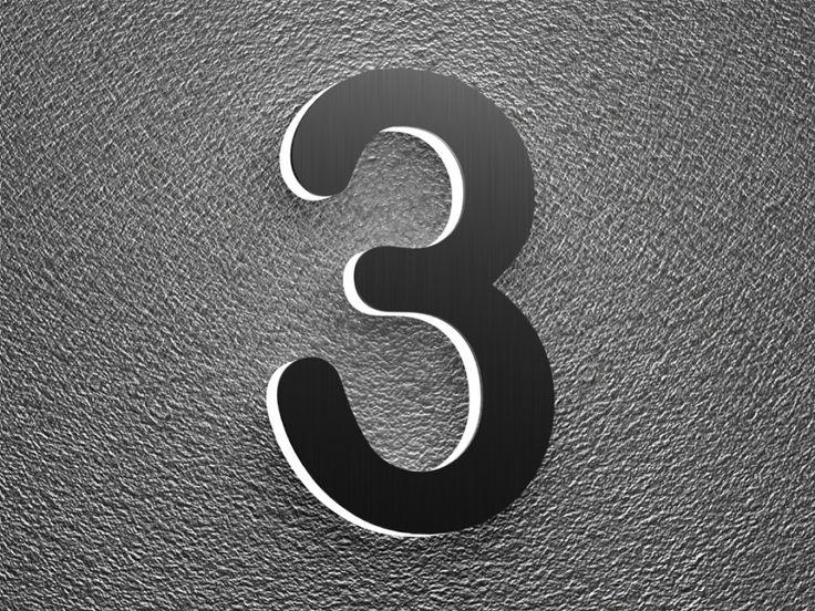 Klingelknopf24.de - Türklingeln von Cyber-Tec-Design - Beleuchtete Edelstahl Hausnummer mit Led-Hintergrundbeleuchtung