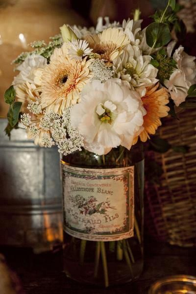 beautiful vintage flower arrangement