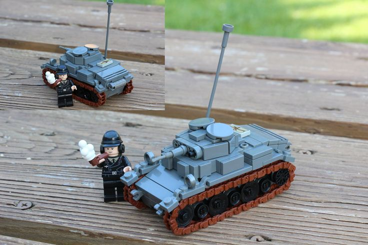 https://flic.kr/p/JbDYrT | Panzer II Luchs | My entry into the Military Build Contest WOT category. Spack is a real one for the gun mantle.  100% LEGO and 100% my design  -Erik