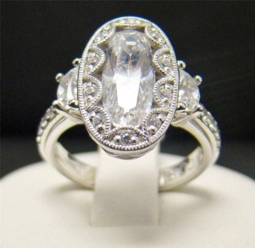 Tacori IV 925 Sterling Silver Cubic Zirconia Epiphany Oval