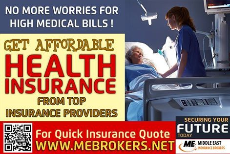 Health Insurance Is The Best Investment You Make For Your self And For Your Family.http://www.mebrokers.net/ At ME Brokers our experts help you with free consultation to get the the best Health insurance which suits your budget and provide the maximum cover. We have all the options available with Top insurance Providers ME Brokers, Almost 20 years of excellence in Insurance Services, One stop shop for all of your insurance needs Specially Health Insurance and Motor Insurance