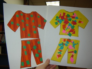 bedtime craft: decorate your jammies - Clothes study