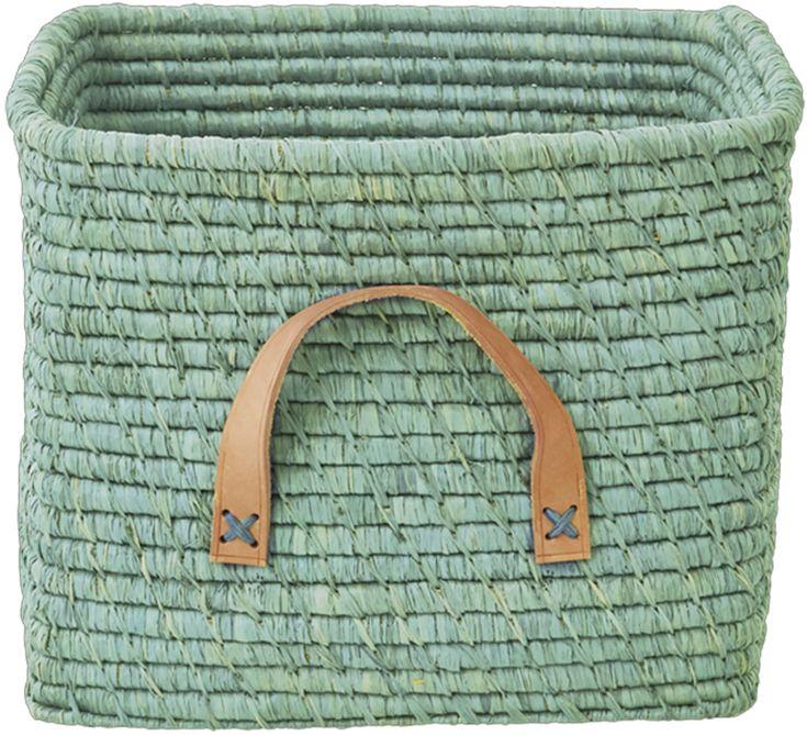 Rice Storage Basket | Kidsroom | Jollyroom - http://www.jollyroom.se/produkter/rice-forvaringskorg-m-laderhandtag-gron | #jollyroom