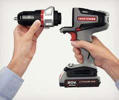 Craftsman Bolt-On Power Tools - Hot - 9 different tools to use the same main handle and battery set!!! - http://coolpile.com/gear-magazine/craftsman-bolton-power-tools/