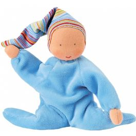 Nicki Baby Waldorf Doll - Light Blue