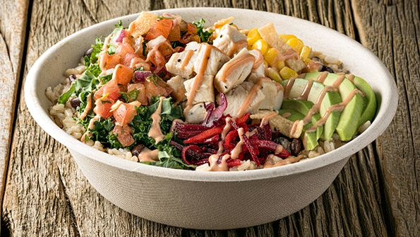 Freshii S Oaxaca Bowl A Base Of Brown Rice And Kale