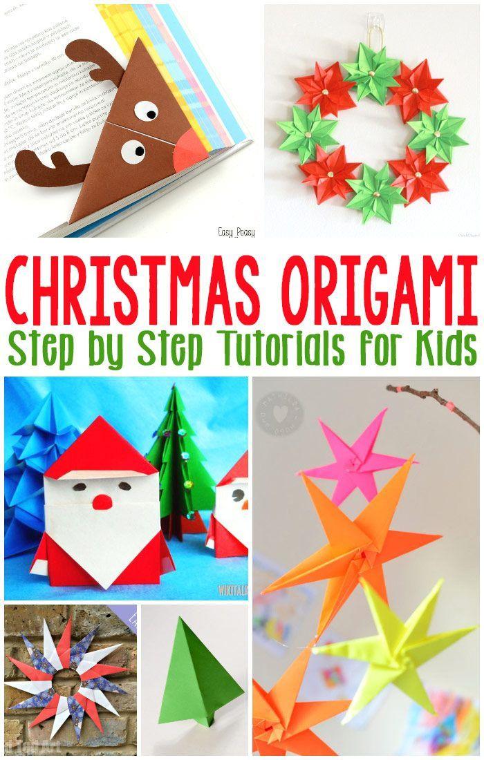 Christmas origami for kids navidad manualidades - Manualidades ninos navidad ...