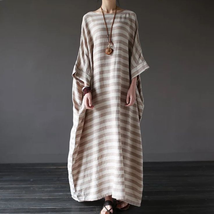 Stripe loose big size maxi size dresses summer plus sizes women clothes