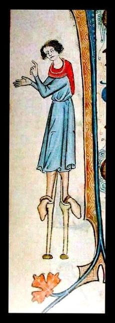 Psautier de Luttrell : la librairie anglaise  psautier de Luttrell Manuscrit est richement illuminé avec des scènes de l'agriculture de l'East Anglia et de la culture . Les visages grotesques des paysans pourraient bien dériver de les masques des acteurs dans les manuscrits de Terence . Utilisé avec le Promptorium Parvulorum (le dictionnaire latin -anglais plus tôt , écrite pour les écoliers à Lynn et y compris leurs jeux ), il peut présenter le contexte de Chaucer , Langland , Julian…