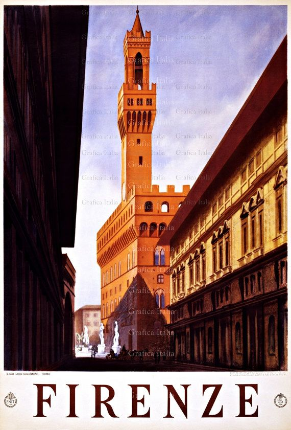 Firenze Italy Vintage TRAVEL Poster Printable by GoodGirlCards