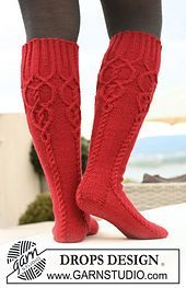 "Ravelry: 122-27 Knitted socks with cables in ""Karisma Superwash"" pattern by DROPS design"