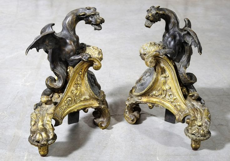 Gilt & Patina Dragon Chennets