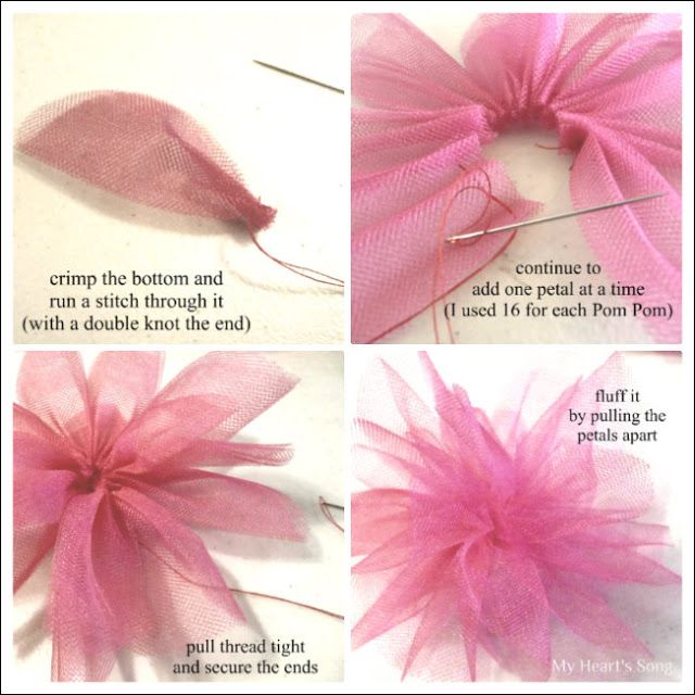 My Heart's Song: DIY Fabric & Tulle Flowers