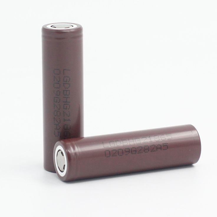 2 pcs 2016 novo para lg hg2 descarga da bateria recarregável 18650 3.6 v 20a poder dedicado cigarro eletrônico frete grátis