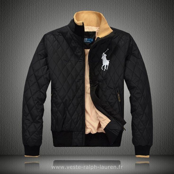 boutique 2013 doudoune polo hommes etats unis est la remise etoiles noir Doudoune Sans Manches Ralph Lauren Homme