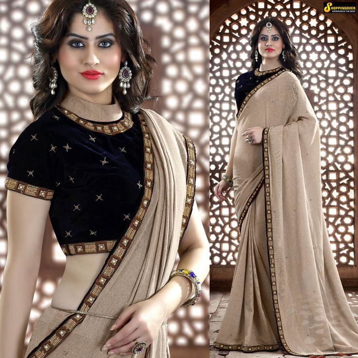 Designer sari bollywood wedding saree indian bridal latest sarees blouse fabric