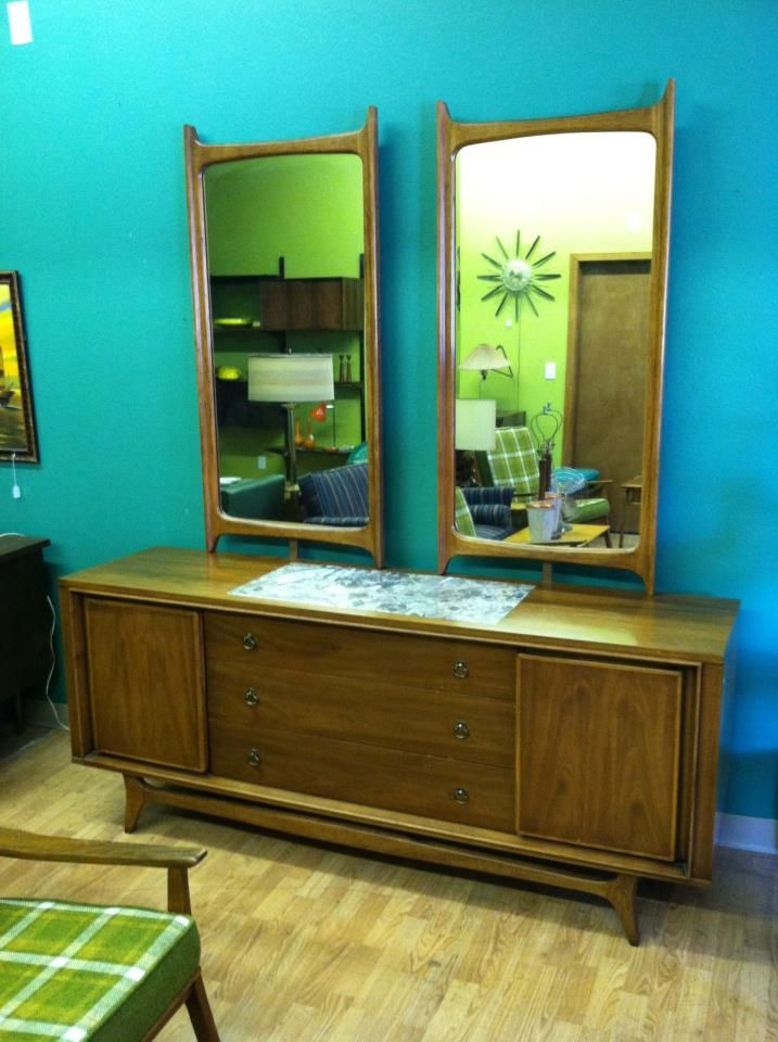 Kent Coffey Insignia Dresser With Two Mirrors At Mad Modern