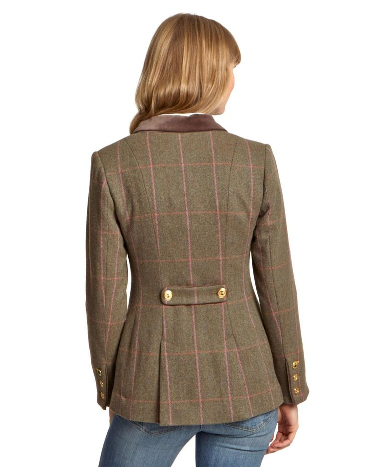 Harris tweed coat women