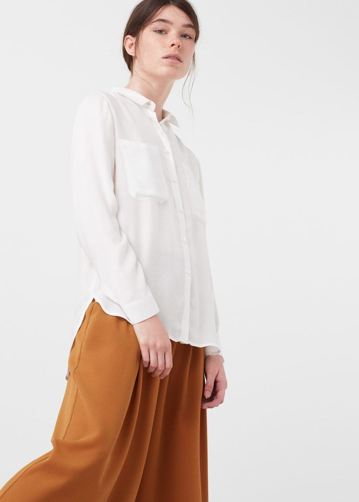 Chemise fluide à poches -  Femme | MANGO France