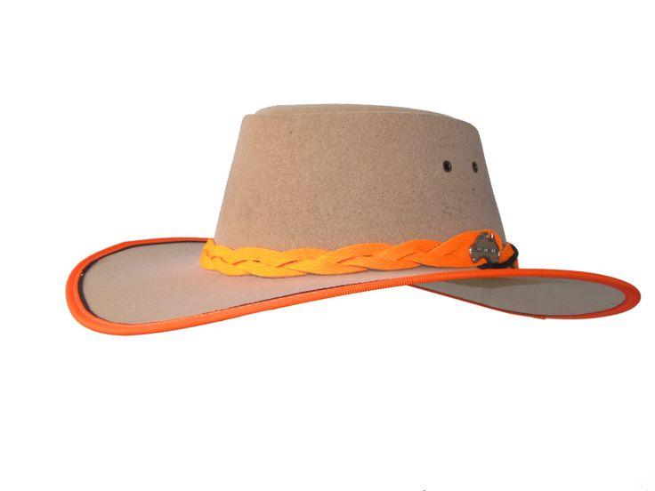 Felt Explorer (Full Felt hat Wide Brim) - True Blue by Jacaru Australia