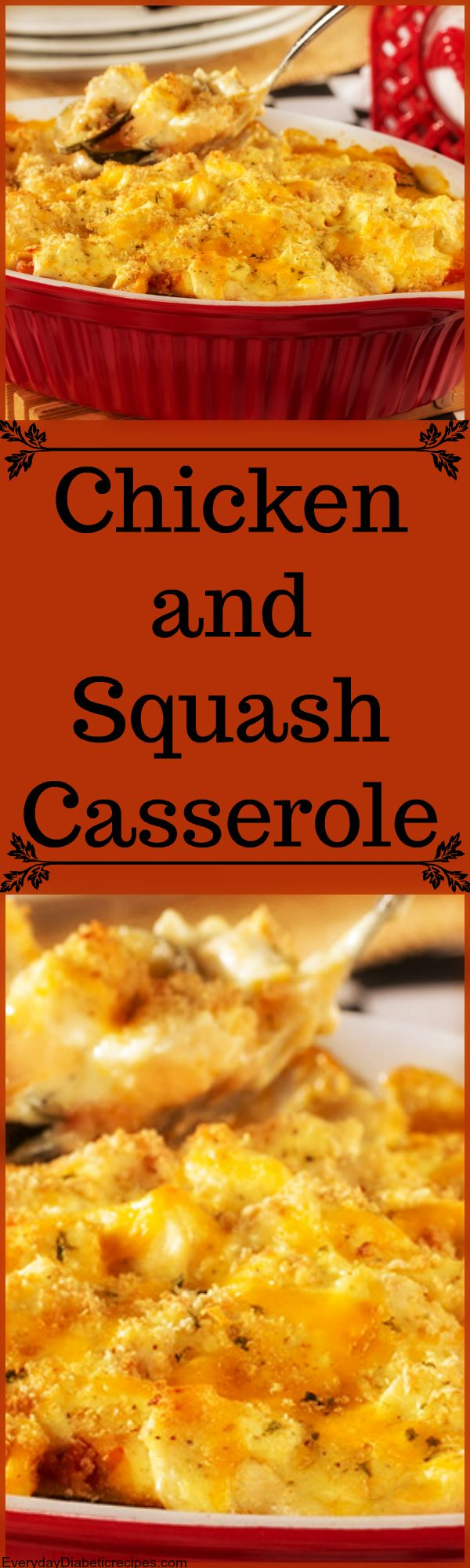Casseroles are always perfect to warm you up in the cold weather! #diabeticfriendly #diabetes #Diabeticdiet #EverydayDiabeticRecipes #DiabeticRecipes #ChickenCasserole