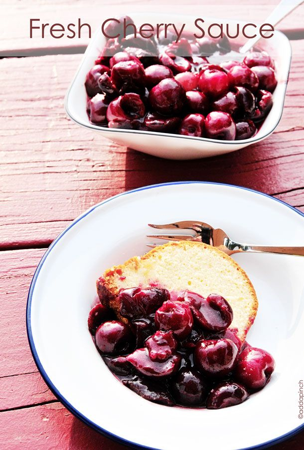 Fresh Cherry Sauce - ready in minutes  and perfect with breakfast, lunch, supper and dessert!