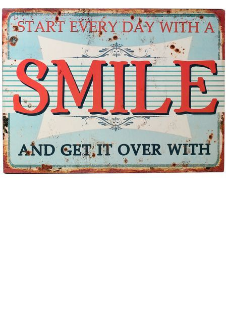 Smile, Metallikyltti