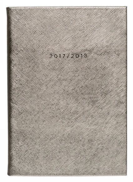 Buy WHSmith 2017-18 A5 Gold Shimmer Deboss Academic Mid Year Diary Day to Page From WHSmith today