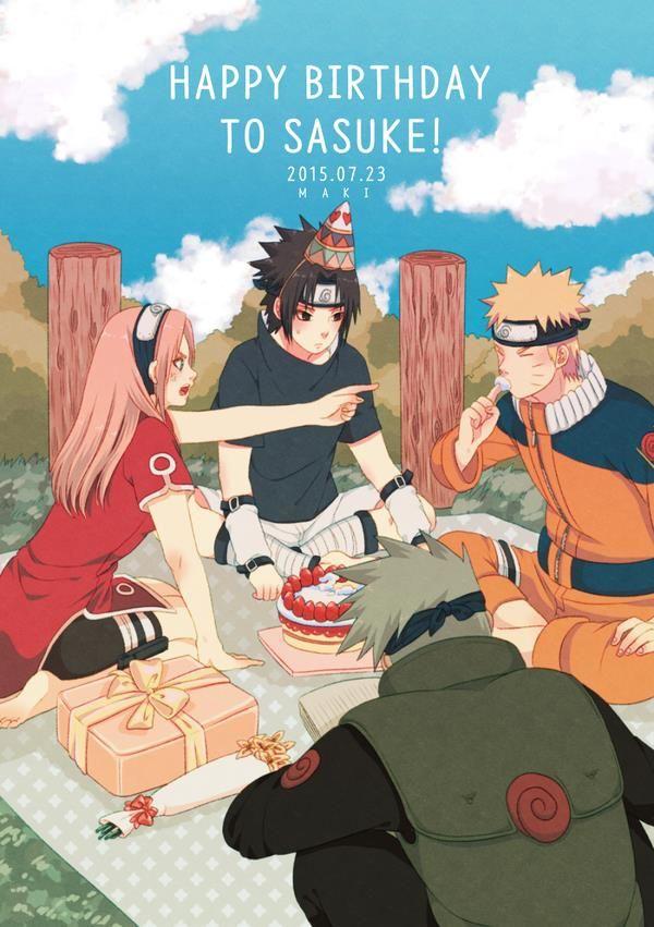 Anime: Naruto Personagens: Hatake Kakashi, Uchiha Sasuke, Haruno Sakura e Uzumaki Naruto