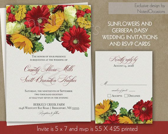 Cheap Sunflower Wedding Invitations: 17 Best Images About Fall Wedding Invitations For Rustic