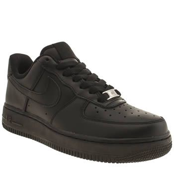 Nike Black Air Force 1 Low Womens Trainers